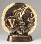 Resin Plate -Victory Wreath Mini Resin Trophy Awards