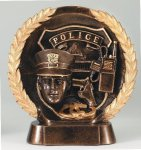 Resin Plate -Police Wreath Mini Resin Trophy Awards