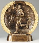 Resin Plate -Basketball Male Wreath Mini Resin Trophy Awards