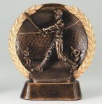 Resin Plate -Baseball Mini Male Wreath Mini Resin Trophy Awards