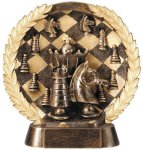 Resin Plate -Chess Wreath Mini Resin Trophy Awards