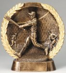 Resin Plate -Baseball Male Wreath Mini Resin Trophy Awards