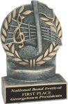 Wreath Resin Trophy -Music Wreath Resin Trophy Awards